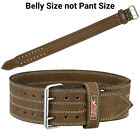 Weight Lifting Belt Gym Heavy Duty Powerlifting Training Leather Brown