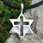 Solomon Seal Star of David Jew Gentile Judaism Christianity Jews Pewter Pendant