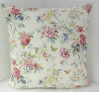 VINTAGE SCATTER COVERS CHIC FLORAL DUSKY PINK BLUE CUSHION COVERS