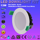 4/6pcs 13W IP44 LED DIMMABLE DOWNLIGHTS KITS WARM & COOL WHITE  IP44 IC-F LIGHT