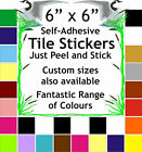 "6"" Tile transferS /stickers packs Pack of 10 20 30 40 50 great choice of colours"