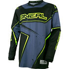 2017 O'Neal Gray/Hi-Viz Motocross Dirtbike MTB BMX Off-Road Riding Gear Jersey