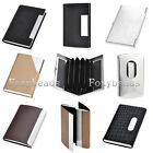 Quality PU Leather/Stainless Steel Name Business ID Credit Card Case Holder Gift