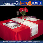 Christmas Red Tablecloth Polyester Table Cloth  Xmas Party Catering  Dining