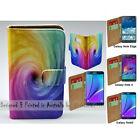For Samsung Galaxy Note 7 5 4 Note Edge Colourful Funnel Print Wallet Phone Case