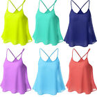 Women's Sexy Causal Candy colored Straps Blouse SleeveLess Vest T-Shirt Top