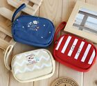 US kawaii Cute Vintage French Style Zip Coin bag Purse Wrist Strap Camera Case