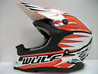 WULFSPORT KTM ORANGE MOTOCROSS ENDURO HELMET (ALL SIZES) ROAD LEGAL EXC SX SXF