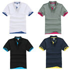Stylish Men's Cotton Short Sleeve Slim Fit Polo Shirt T-Shirts Casual Shirts