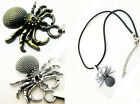 Spider  Stainless Steel Unisex  HOT Necklace  Pendant  Jewelry NEW Leather