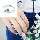 1 PCS Women Girl Gold Silver Fashion Adjustable Arrow Open Knuckle Ring CA