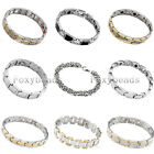 "1pc 8-9""L Stainless Steel Magnetic Therapy Link Chain Bracelet Wristband Fashion"