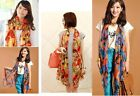 Yellow/Red Luxury Carriage Design In Fashion Ladies Long Scarf Wrap Shawl Summer
