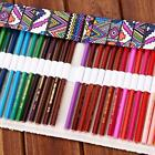 Colorful Canvas Pencils Holder Bag Roll Up Case Curtain ​Retro National Wind