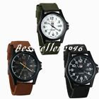 Mens Army Military Analog Watch Nylon Quartz Date Wrist Watches for Men 12/24Hr image