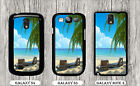 BEACH CHAIRS BLUE SEA SUN RELAX TIME CASE FOR SAMSUNG GALAXY S3 S4 NOTE 3 -fgc5Z