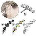 Edelstahl Helix Piercing Ohrstecker Tragus Knorpel Cartilage Strass Glitzer Ohr