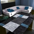Thick Quality Mordern Carved Large Rugs Teal Silver Bright Small Rug Mats Cheap