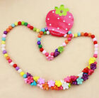 Baby  Lovely Fun Wood Bead Necklace Bracelet Jewelery Sets Cute Necklace