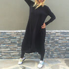 2017 CELEB LOOSE CASUAL LONG JUMPSUIT PLAYSUIT HAREM ROMPER BLACK OVERSIZE C