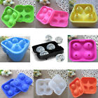 Silicone Flexible Whiskey Cocktails 4 Ice Balls Sphere Cube Maker Mold Tray Bar