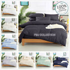 1000TC 100%Egyptian Cotton Stripe Quilt cover 2 pillowcase set King Queen Double
