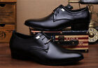 Men's US Size Casual Pointed Leather Lace Up Wedding Formal Dress Shoes Oxfords