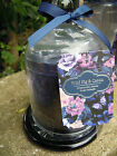 Candle Gift Set glass plate jar candle glass dome Blue Wild Fig and Cassis