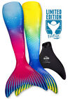 Colorful Swimmable Mermaid Tail with Monofin for Kids and Adults by Fin Fun