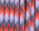 Sneaky Orange Camo - 550 Paracord Rope 7 strand Parachute Cord 10 25 50 100 ft