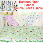 80x70cm Baby Bamboo Fiber Flannel Changing Mat Natural Breathable Kids Urine Pad