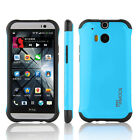 HTC One M8 Case Shock Proof Slim Drop Protection Protective Hybrid Cover Cases