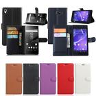 PU Leather Stand Wallet Built-in Case Cover for Sony Xperia Z/ M /E Series Phone