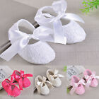 Infant Baby Girls Children Soft Cloth Sole Toddler Lace Skidproof Bow Shoes