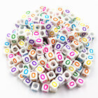 100 Pcs 6mm Wholesale Hot Mixed Acrylic 26 Letters/Alphabet Beads DIY