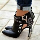 Sexy pumps  Womens Rhinestone Stiletto High Heels Pointy Toe Ankle boots Shoes
