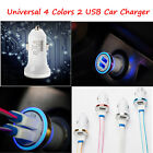 Universal 12V Dual USB 2.1A Car Charger 2 Port Adapter For Cell Phones 4 Colors