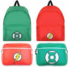 DC Comics Rucksack Backpack / Satchel Bag Green Lantern/The Flash New + Official