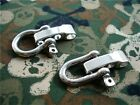 Stainless Steel Adjustable shackles for 550 paracord bracelets D and Bow shackle