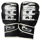 Prime adult leather boxing glove training punching mitts martial arts 1060 black