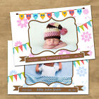 1-100 Personalised New Born Baby Announcement Thank You Cards With Photo (NB4L)