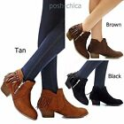 New Women TCl6 Tan Black Brown Fringe Moccasin Boots Ankle Booties sz 5.5 to 10