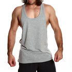 Mens RACERBACK Lifting Gym Training Singlet Weight Bodybuilding Stringer Tank