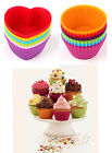 12/24 Set Soft Silicone Muffin Cupcake Chocolate Maker Mold Mould Baking Kitchen