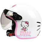 F#47 Cycling Scooter Motorcycle White Bowknot Kitty Helmet Helm Moto Casco Adult
