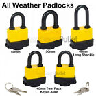 Qty 1 Yellow & Black Weatherproof Padlock - 3 Sizes available 40mm 50mm or 65mm