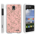For Alcatel Pop Star LTE A845G Slim Fit Hard Shell Case Floral Dream