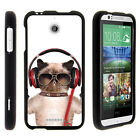 For HTC Desire 510 Case Hard Snap On 2 Piece Slim Shell Silly Animals