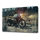 LARGE OLD TRIUMPH MOTORCYCLE CANVAS PRINT EZ1416 £24.99 GBP on eBay