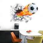 3D Football Waterproof Removable Stickers Bed room Decor Vinyl Wall Decal